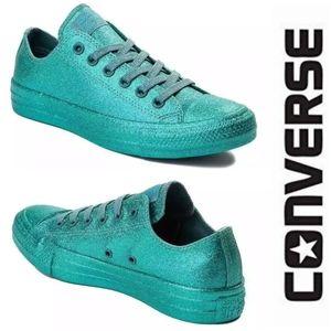 Converse Brittany Blue Monochrome Glitter Sneakers